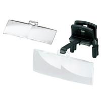 ラボ・クリップ [labo-clip] クリップ + レンズ 2枚セット 1.7・2倍 眼鏡にはさむ クリップタイプ 両眼レンズ 1646201  ヘッドルーペより気軽です エッシェンバッハ