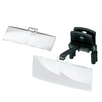 ラボ・クリップ [labo-clip] クリップ + レンズ 2枚セット 1.7・2.5倍 眼鏡にはさむ クリップタイプ 両眼レンズ 1646202  ヘッドルーペより気軽です エッシェンバッハ