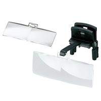 ラボ・クリップ [labo-clip] クリップ + レンズ 2枚セット 2・2.5倍 眼鏡にはさむ クリップタイプ 両眼レンズ 1646212  ヘッドルーペより気軽です エッシェンバッハ