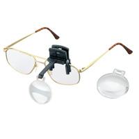 ラボ・クリップ [labo-clip] クリップ + レンズ 2枚セット 4・7倍 眼鏡にはさむ クリップタイプ 片眼レンズ 1646247  ヘッドルーペより気軽です エッシェンバッハ