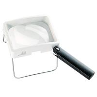 虫眼鏡 卓上置き型ハンドスタンドルーペ 2.8倍 75×100mm 2032 ルーペ スタンド ハンドルーペ [combi-plus]