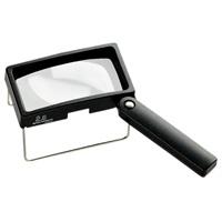 虫眼鏡 卓上置き型ハンドスタンドルーペ 2.6倍 50×100mm 2036 ルーペ スタンド ハンドルーペ [combi-plus] 卓上 拡大鏡 スタンド ルーペ エッシェンバッハ