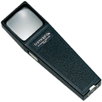 角型ライトルーペ30 G-7502 3倍 30×30mm 虫眼鏡 拡大鏡 池田レンズ