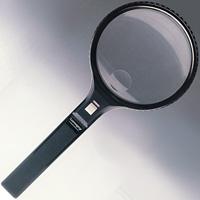 虫眼鏡 ライト付 ルーペ 90mm 2倍 G-7551 アウトレット [訳あり] [ワケあり]  池田レンズ