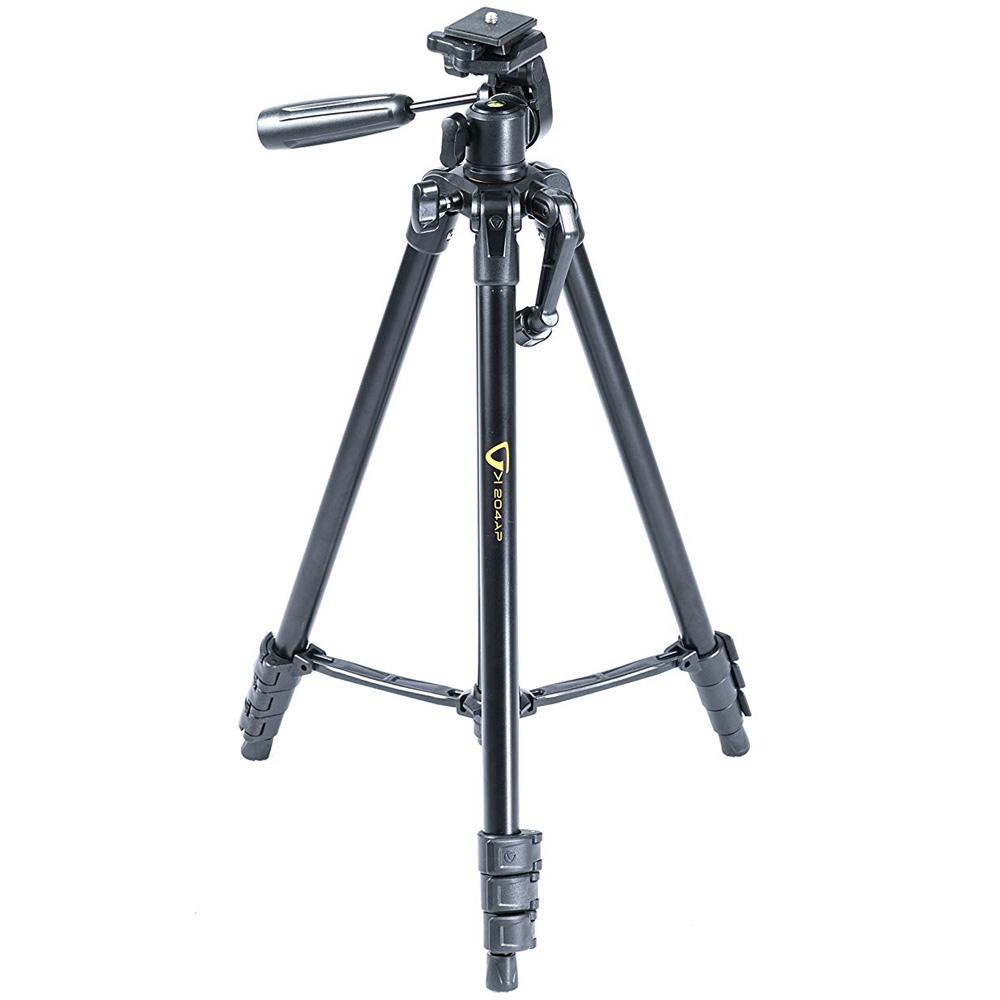 三脚 一眼レフ ビデオカメラ ハンディカム対応 ブラック コンパクト カメラ 軽量 小型 3WAY アルミ VK 204AP 4段 バンガード おすすめ