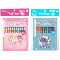 いろえんぴつ 色鉛筆 12色 ディズニーキャラクター おすすめ 文房具 Disney ディズニー 文具 ディズニー 小学生 色鉛筆