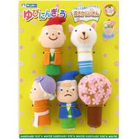 ゆびにんぎょう 花さかじいさん 日本のおとぎ話 ストーリー付き まなびっこ 知育玩具 人形劇 指人形 花さかじいさん