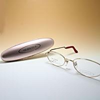 [シニアグラス] カンダオプティカル スライト2 ゴールド/ブラウンレッド 老眼鏡 強度 女性 おしゃれ