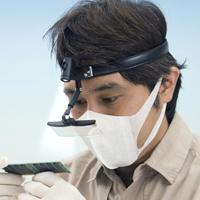 拡大鏡 メガネ ヘッドルーペ LEDライト付き 双眼精密 ヘッドルーペ 1.5倍 2倍 2.5倍 3.5倍 虫眼鏡