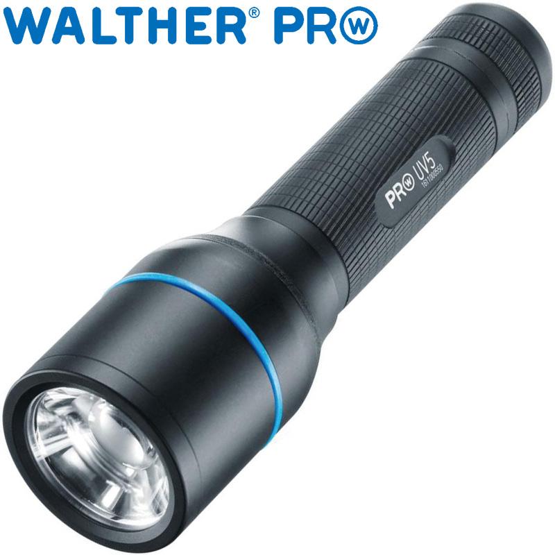 ワルサープロ フラッシュライト ワルサープロUV5 WAL37077 WALTHER 懐中電灯 UVライト ブラックライト 紫外線ライト 強力 犯罪 捜査 鑑定