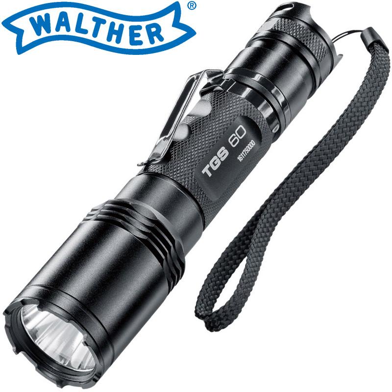 ワルサーフラッシュライト ワルサーTGS60 WAL37109 WALTHER LED 照明 強力 懐中電灯 ハンディライト アウトドア イベント 防犯 防災 登山