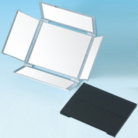 鏡 折りたたみ コンパクトミラー [鏡] オールラウンドミラー 5面鏡 角型 HA-5 鏡 ミラー メイク 化粧 折りたたみミラー 堀内鏡工業