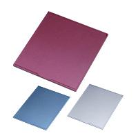 鏡 折りたたみ コンパクトミラー [L] HM-800 スリム & ライト メタリック 堀内鏡工業