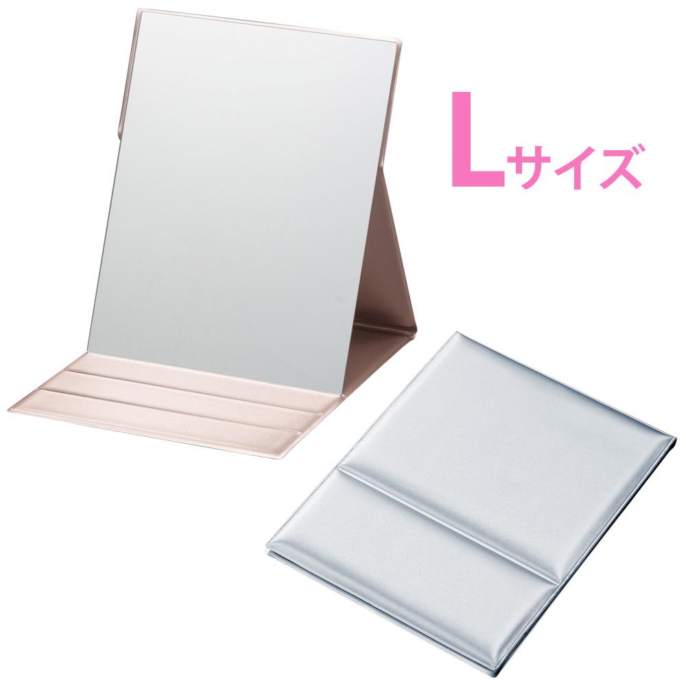 折立ミラー [L] HP-35 ナピュアミラー プロモデル メタリックバージョン 鏡 かがみ 卓上鏡 スタンドミラー 特許 毛穴 シミ シワ メイク プロ仕様 堀内鏡工業