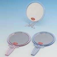 カラー 折立 ハンドミラー [M] NA-14 ナピュアミラー 鏡 かがみ 卓上鏡 スタンドミラー ナピュアミラー 毛穴 シミ シワ メイク プロ仕様 堀内鏡工業