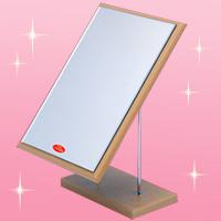スタンドミラー 卓上ミラー Adjustable [アジャスタブル] [鏡] 角型 ナピュアミラー 高さ2段階調整機能付き
