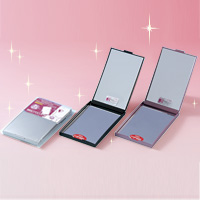 鏡 折りたたみ コンパクトミラー 拡大鏡 メイク [拡大ミラー] 2倍 両面[鏡] 角型 ナピュアミラー ズームアップ