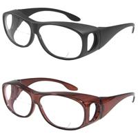 マルチシニアグラス 遠近拡大鏡 老眼鏡 1.6倍 2.50度 ドライブ ゴルフ 釣り オーバーグラス
