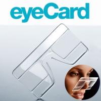 カードタイプルーペ eyeCard 1.6倍 カード型 着用ルーペ 鼻にかけて老眼鏡代わりに 虫眼鏡