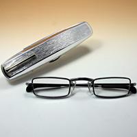[シニアグラス] カンダオプティカル スライト シルバー 老眼鏡 強度 男性 おしゃれ
