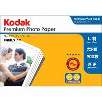 Kodak プレミアムフォトペーパー 275g L判 200枚 KPR-200L Kenko ケンコー