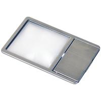 ケンコー 極薄 カード型 拡大鏡 LED付き KCL-025S KENKO ルーペ 拡大鏡 虫眼鏡 カード型 薄型 LED