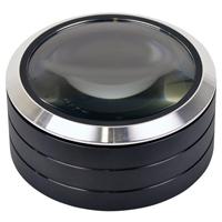 ケンコー LED付き 卓上 拡大鏡 KDL-903OG KENKO 置型 ルーペ 拡大鏡 虫眼鏡 置き型 文鎮 薄型 LED