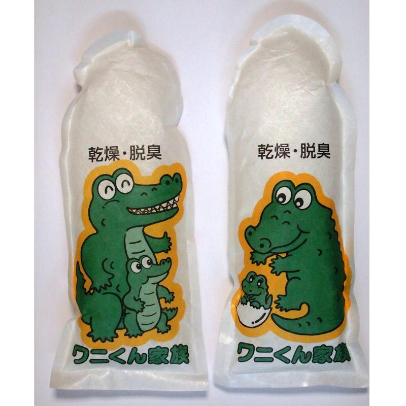ワニくん家族2個セット 靴用乾燥脱臭剤 KENKO ケンコー 消臭材 靴の臭い 足の臭い 対策 フットケア