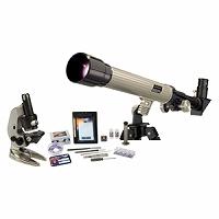 理科の自由研究セット 40X 天体望遠鏡 +1200X顕微鏡 セット#88031EASTCOLIGHT ケンコー