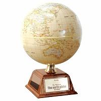 地球儀 インテリア アンティーク ソーラー自動回転 行政図 14cm 英文 入学祝い 小学校 子供用 学習
