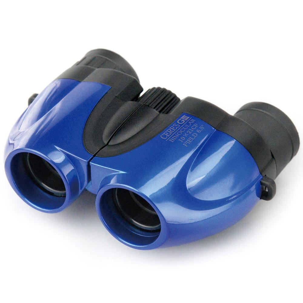 双眼鏡 オペラグラス コンサート ドーム ライブ 10倍 21mm セレス-GIII ブルー コンパクト スポーツ観戦