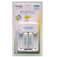 ニッケル水素充電池 ENERG エネルグ U-#101AS 充電器 + 単3形 2本 ケンコー 充電池 エネルグ エコ 水素電池 電池