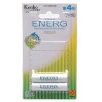 ニッケル水素充電池 ENERG エネルグ U-#104EN-2B 単4形 [500mAh 1.2V] 2本 ケンコー 充電池 エネルグ エコ 水素電池 電池