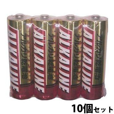 三菱 アルカリ乾電池 アルカリ電池 乾電池 単3 単三 LR6R/4S 10個セット