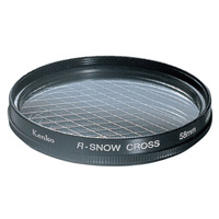 カメラ用 レンズ フィルター 58S R-スノークロス クロスフィルター KENKO ケンコー