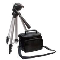 クイックシュー・水準器付三脚&カメラバッグセット DVC-0301 kenko