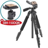 【数量限定】 三脚 プロ250DX-LE+自由雲台 SBH-150DQN SLIK 記念キット カメラ用品 カメラアクセサリー 撮影 観測 一眼 一眼レフ