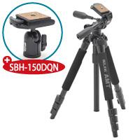 【数量限定】 三脚 プロ340HD+自由雲台 SBH-150DQN SLIK 記念キット カメラ用品 カメラアクセサリー 撮影 一眼 一眼レフ