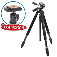 【数量限定】 三脚 カーボン 723 EXIII 記念キット カーボン723EX3+自由雲台 SBH-150DQN SLIK カメラ用品 カメラアクセサリー 一眼 一眼レフ