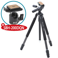 【数量限定】 三脚 カーボンマスター 823 PRO N 記念キット カーボンマスター823PRON+自由雲台 SBH-200DQN SLIK カメラ用品 カメラアクセサリー 一眼 一眼レフ