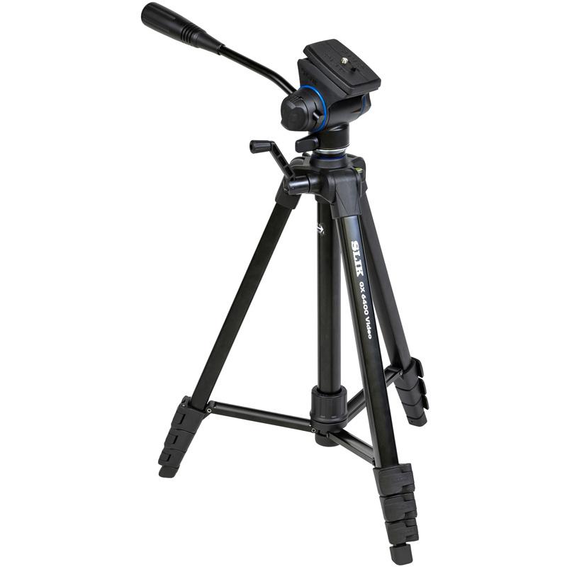 スリック 三脚 ビデオカメラ GX 6400 VIDEO SLIK 4段 おすすめ 軽量 コンパクト 一眼レフ用 カメラ 旅行 2way 雲台
