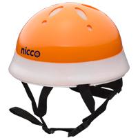 ヘルメット 子供用 nicco 自転車 ヘルメット オレンジ 46〜50cm nicco Baby 12ヶ月〜2才位まで 子供用 保護 SGマーク認定商品 防災