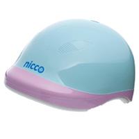 ヘルメット 子供用 nicco 自転車 nicco Junior ヘルメット ブルーピンク 52〜56cm 小学生 子供用 保護 SGマーク認定商品 防災