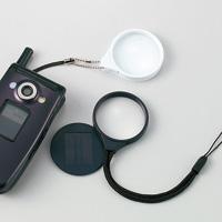 虫眼鏡 ルーペ ストラップ 携帯 ストラップルーペ KL-10 3倍 38mm ケータイ型 ストラップ付き 池田レンズ