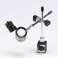 虫眼鏡 LEDライト付 小型 スタンドルーペ 16倍 マグネットタイプ ルーペ スタンド