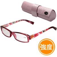【定形外郵便送料無料】 老眼鏡 花柄 607BU リーディンググラス シニアグラス 女性 おしゃれ 強度