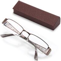 老眼鏡 シニアグラス ブラウン
