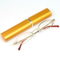 シニアグラス [老眼鏡 折りたたみ] SG-02GL ゴールド 金 [リーディンググラス] 携帯用ペン型ケース付き 男性 女性 おしゃれ
