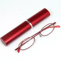 シニアグラス [老眼鏡 折りたたみ] SG-02RD レッド 赤 [リーディンググラス] 携帯用ペン型ケース付き レッド 赤 男性 女性 おしゃれ