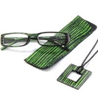 老眼鏡 シニアグラス グリーン